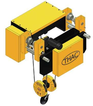 5 Ton Low Headroom Electric Wire Rope Hoist - THAC