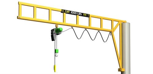 Overhead Crane Warning Horn : Met track workstation jib cranes