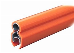 Saf-T-Bar, C-Series, Conductor Bar, 110A, 10FT, Galvanized, Orange PVC Cover, w/Joint Cover