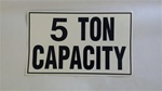 Machinery Capacity Labels - Decal