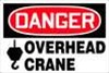 Danger Overhead Crane - with hook block Cat.#ECH-3ZXY4