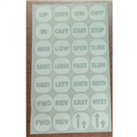 Ductowire PPS-BC legend Plate inserts for Switch Button (set)