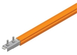 Safe-Lec 2 Conductor Bar 100A Galv Steel PVC Cover